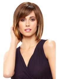Classic and modern, this chin length bob frames the face with delicate layers and subtle bangs.
