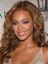 "Lace Front Auburn Without Bangs 16"" Beautiful Beyonce Human Hair Long Auburn Wig"