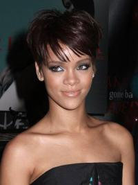 Trendy Celebrity Wigs Boycuts Cropped 6 Inches Online Rihanna Style Straight Sexy Capless Wig
