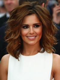 Human Hair Celebrity Wigs Shoulder Length Exquisite