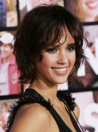 Wavy Lace Front Brown Amazing Jessica Alba 100 Percent Real Human Hair Wigs