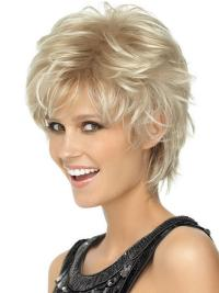 Discount Blonde Wavy Boycuts Short Wigs