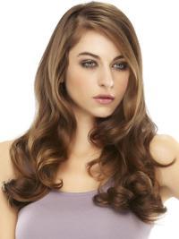 Affordable Auburn Wavy 18 Inches Hair Falls & Half Hair Wigs