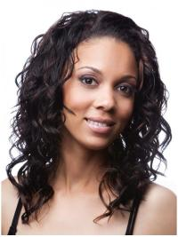 Shoulder Length Curly New Human Hair Curly Half Wigs