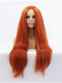 Auburn Long 32 Inches Colorful Lace Front Wig