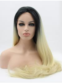 Suitable Synthetic Straight Without Bangs Lace Front Wig