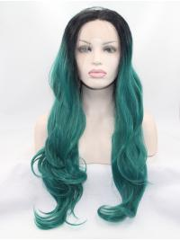 Flexibility Wavy Layered Colorful Wigs Lace Front