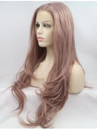 Durable 28 Inches Long Layered Wavy Lace Front Wigs