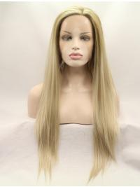 Style Synthetic Long Blonde Lace Front Wig Without Bangs