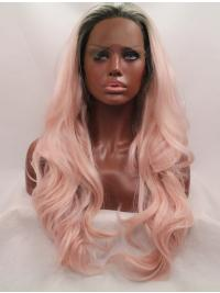 Cheap Synthetic 26 Inches Colorful Lace Front Wigs For Sale