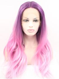 Without Bangs Synthetic Good Expensive Lace Front Wigs