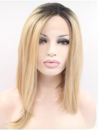 Straight 12 Inches Beautiful Natural Looking Synthetic Lace Wigs