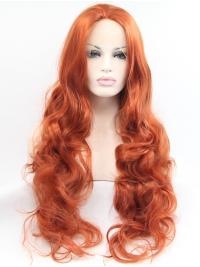 Curly Synthetic 30 Inches Flexibility Celebrity Lace Wigs For Sale