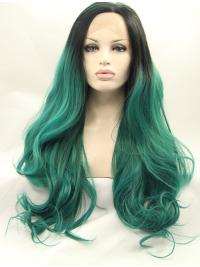 Without Bangs Long Style Extra Long Lace Front Wig