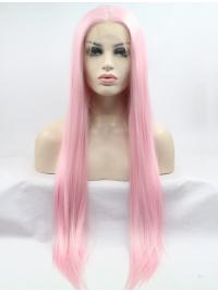 Straight Long 30 Inches Fabulous Glueless Lace Front Wig