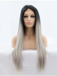 Without Bangs Straight Convenient Synthetic Whole Lace Wigs