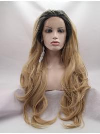 Wavy Long 27 Inches Incredible Natural Hair Line Lace Front Wigs