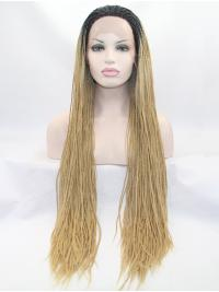 Curly Long 35 Inches Amazing Lace Front Blonde Wigs