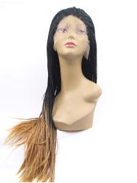 Long Synthetic 38 Inches Top Different Color Style Lace Front Wig