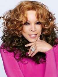 """Shoulder Length Without Bangs 18"""" Comfortable Wendy Williams Natural Hair Wigs Online"""