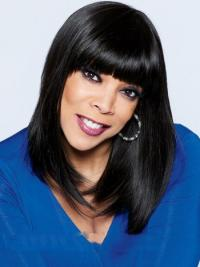 """Lace Front With Bangs Synthetic 18"""" Fashion"""