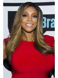 """Layered 22"""" Natural Wendy Williams Real Looking Lace Front Wigs"""