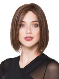 It is a human hair wig that is cut into the perfect bob hairstyle.