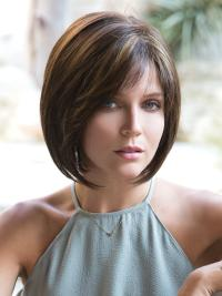 This wig is a modern bob, perfectly layered with texture and volume.