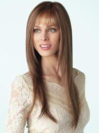 The wig has sleek long flowy layers that evoke a sensuous essence.