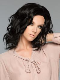 The wig is a nicely layered mid-length wig. The human hair allows you to style the wig with heat tools, just like your own hair.