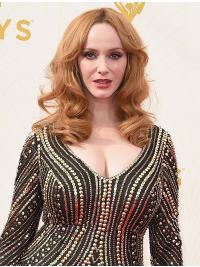 "15"" Shoulder Length Capless Layered Synthetic Christina Hendricks Wigs"