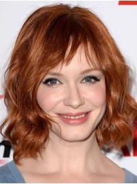 "13"" Chin Length Capless Layered Synthetic Christina Hendricks Wigs"