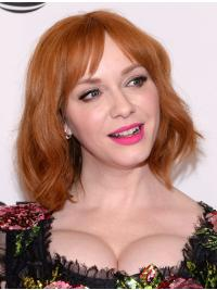 "Beautiful With Bangs Blonde Wavy Chin Length 11"" Christina Hendricks Wigs"