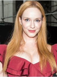 "Lace Front Synthetic Blonde Long 20"" Straight Christina Hendricks Wigs"