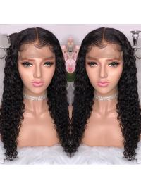 Curly Lace Front Human Hair Wigs Pre Plucked With Baby Hair Brazilian Remy Hair Lace Front Wigs