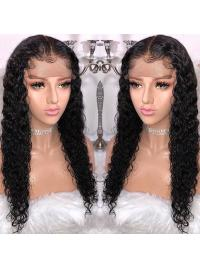 Curly Lace Front Pre Plucked Hairline Brazilian Remy Hair Lace Wig With Baby Hair Natural Color