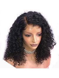 Curly Lace Front Brazilian Remy Hair Wig Pre Plucked Natural Hairline With Baby Hair