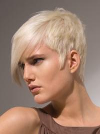 Capless Boycuts Young Fashion Short Straight Wigs For Women