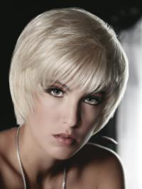 8 Inches Perfect Short Remy Human Hair Young Fashion Wigs