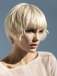 Monofilament Boycuts Young Fashion Short Synthetic Wig