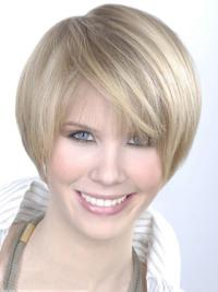 Monofilament Grey Young Fashion Short Synthetic Wig