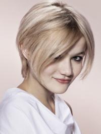 Amazing 8 Inches Short Young Fashion Short Grey Wig
