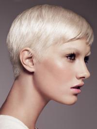 Boycuts Synthetic Online Wig For Short Straight Hair
