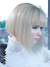 12 Inches Convenient Chin Length Remy Human Hair High Fashion Wigs
