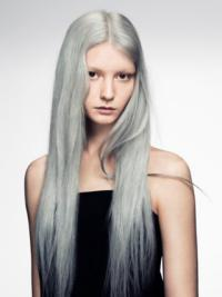 24 Inches Long Without Bangs Human Hair Fashion Wigs