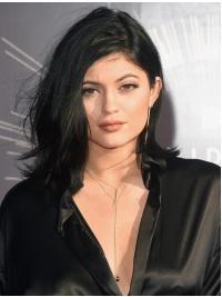 Black Wavy Shoulder Length 14 Inches Cheap Wigs Like Kylie Jenner