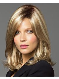 This wig is a below the shoulder style with long face-framing layered bangs.