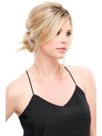 """Synthetic Straight 12""""(As Picture) Blonde Fringe Topper From"""