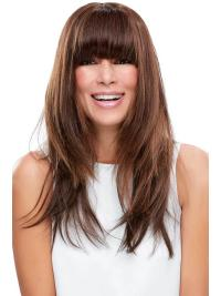 """Remy Human Hair Straight 7.5""""(As Picture) Auburn Fringe Topper From"""