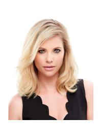 "Remy Human Hair Straight 12""(As Picture) Blonde Crown Topper From"